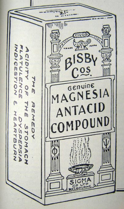 Bisby magnesia antacid