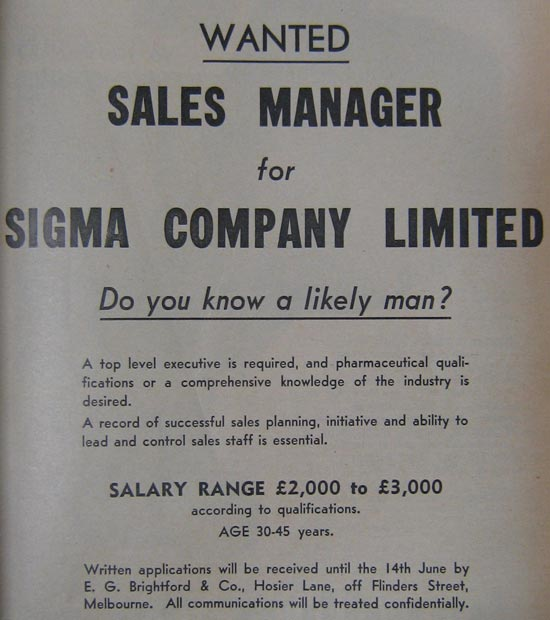 Sales Manager Advertisment