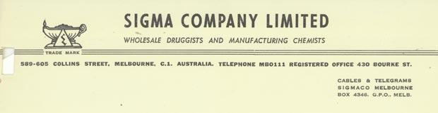 Sigma Letterhaed 1957
