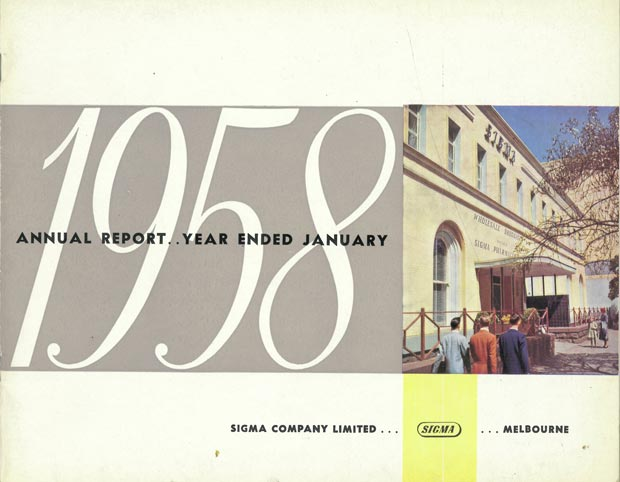Annual Report Cover 1958