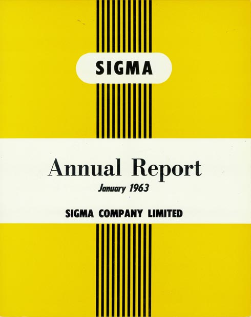 Annual Report Cover 1963