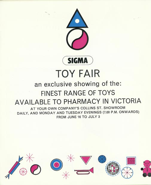 Sigma Toy Fair 1964