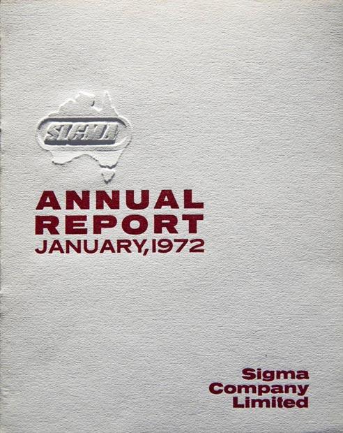 Annual Report Cover 1972