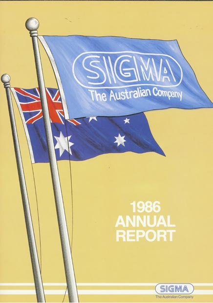 Annual Report Cover 1986