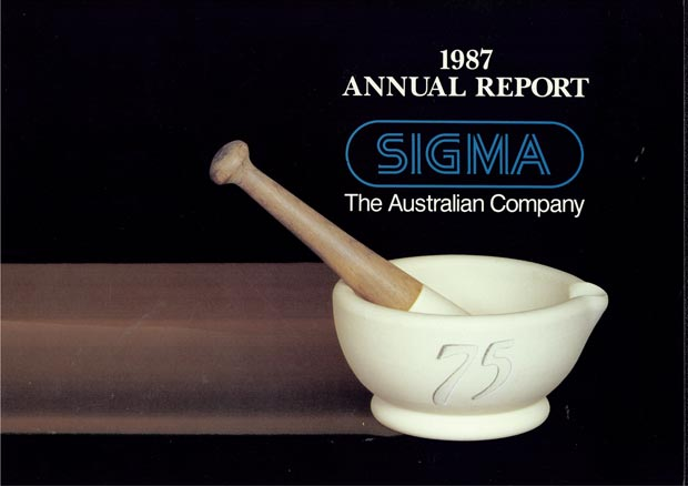 Annual Report Cover 1987