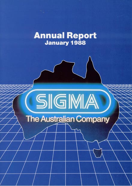 Sigma Annual Report Cover 1988