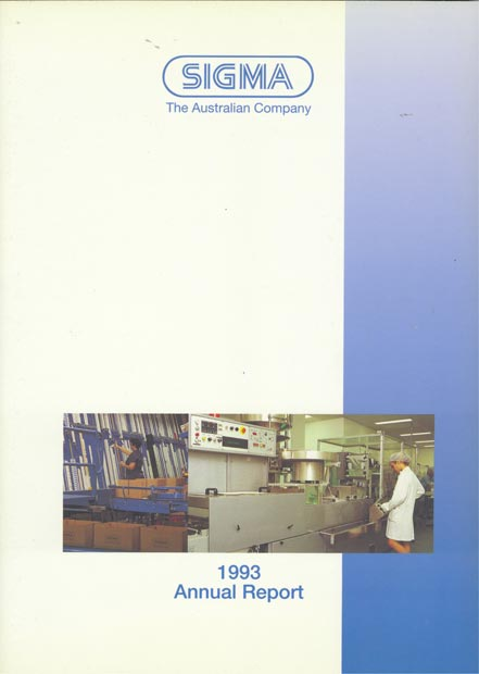 Annual Report Cover 1993