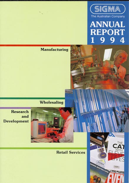 Annual Report Cover 1994