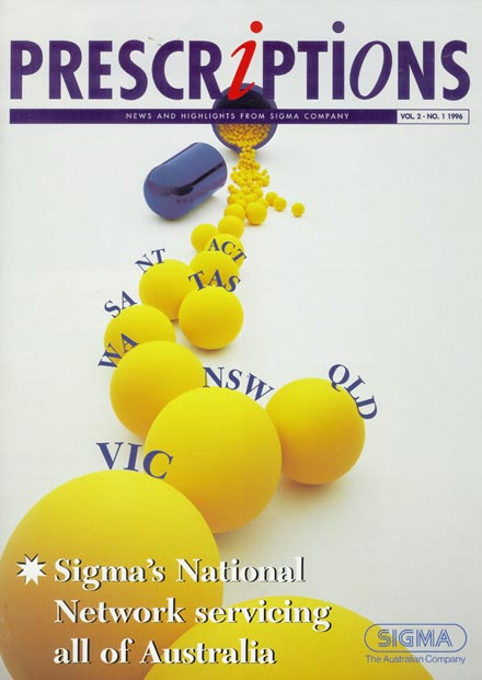 Sigma's national network servicing all of Australia from 1996