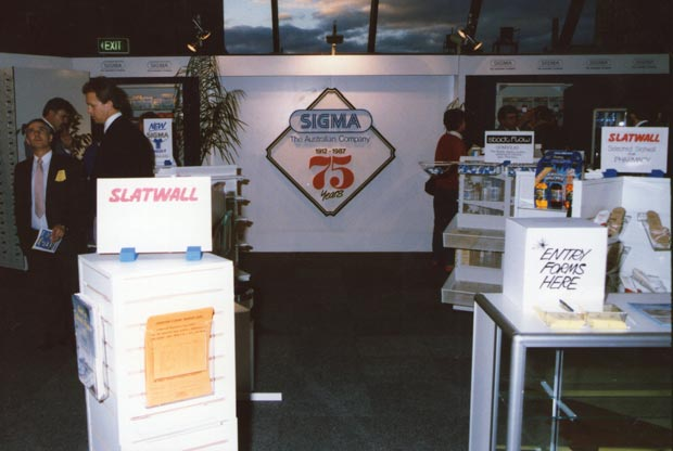 Sigma's Trade display during Sigma's 75th Birthday