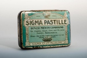 Sigma Pastilles were a big seller during the Great Depression