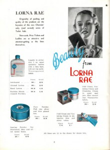 Sigma introduced its Lorna Rae cosmetics line in 1936 - Sigma-Archives